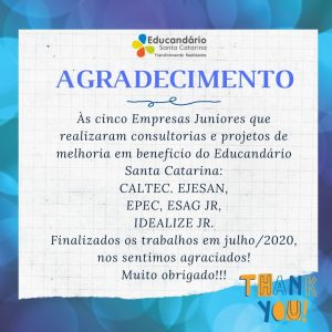 Agradecimento as Empresas Juniores