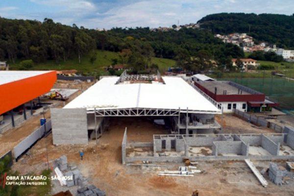 Novo prédio da creche em construção.